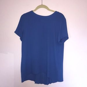 Ann Taylor LOFT Blue Short Sleeve Blouse